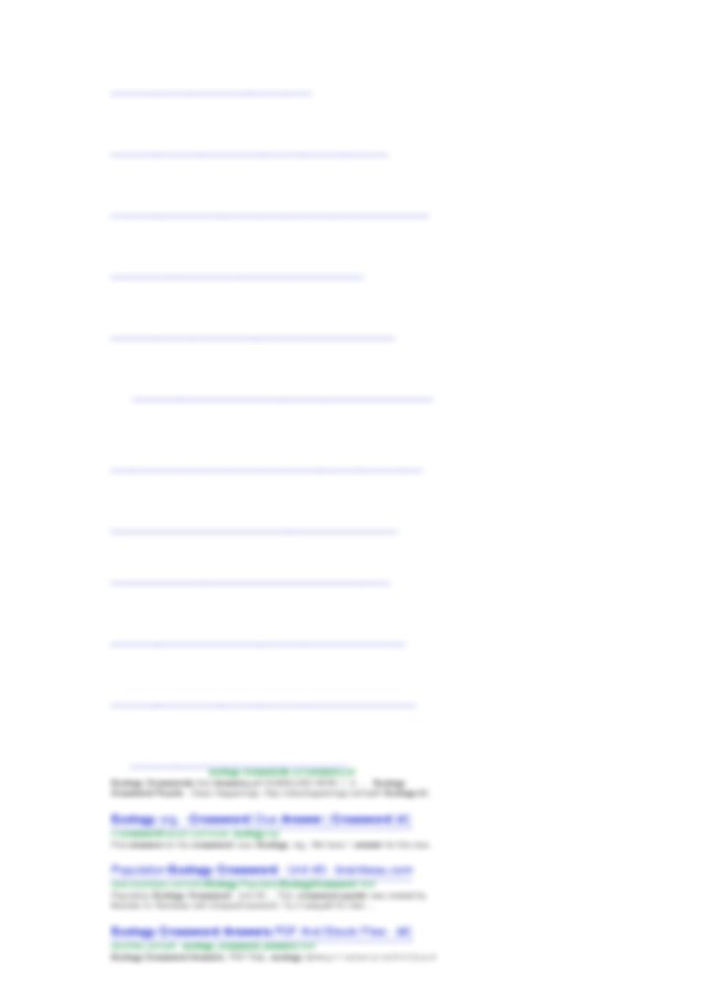 Biology Ecology Crossword Puzzle Answer Key DOC PDF ...