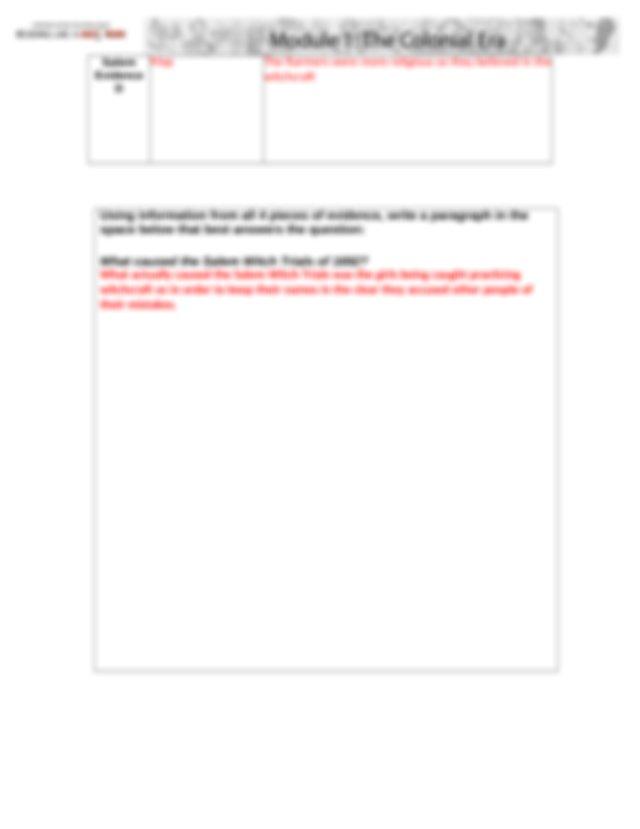M1A5 Salem Answer Sheet.docx - A1.5 Salem Witch Trials ...