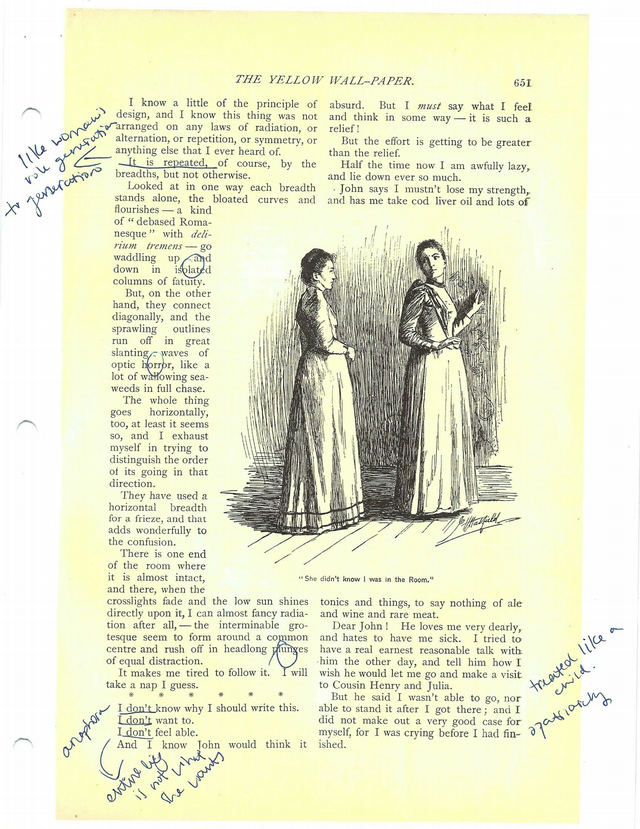 The Yellow Wallpaper--annotated copy.pdf -   Course Hero