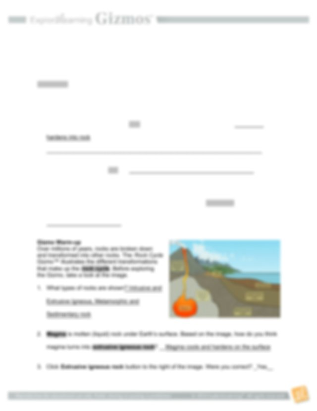 Rock cycle gizmo with answers.pdf - Name Date Student ...