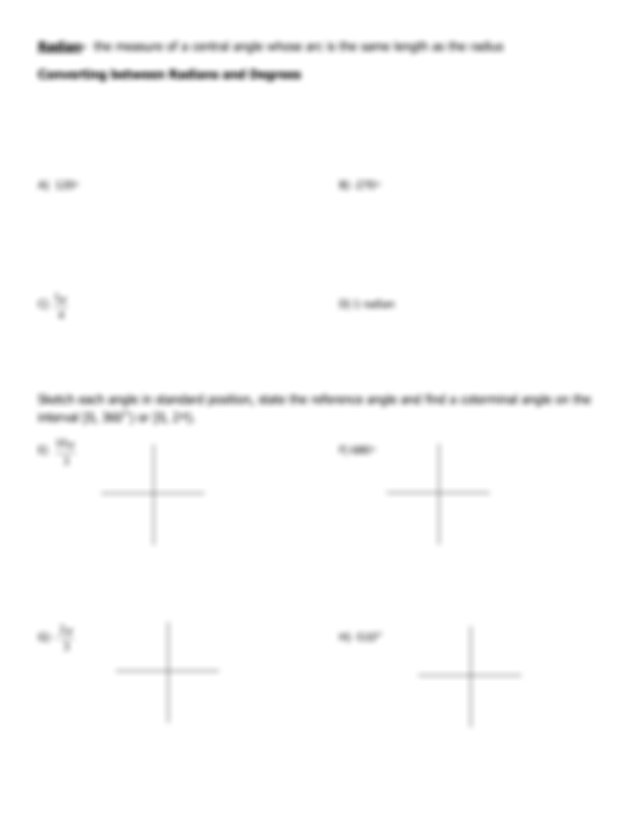 Angles and Their Measures Notes-1.pdf - PAP Precalculus ...