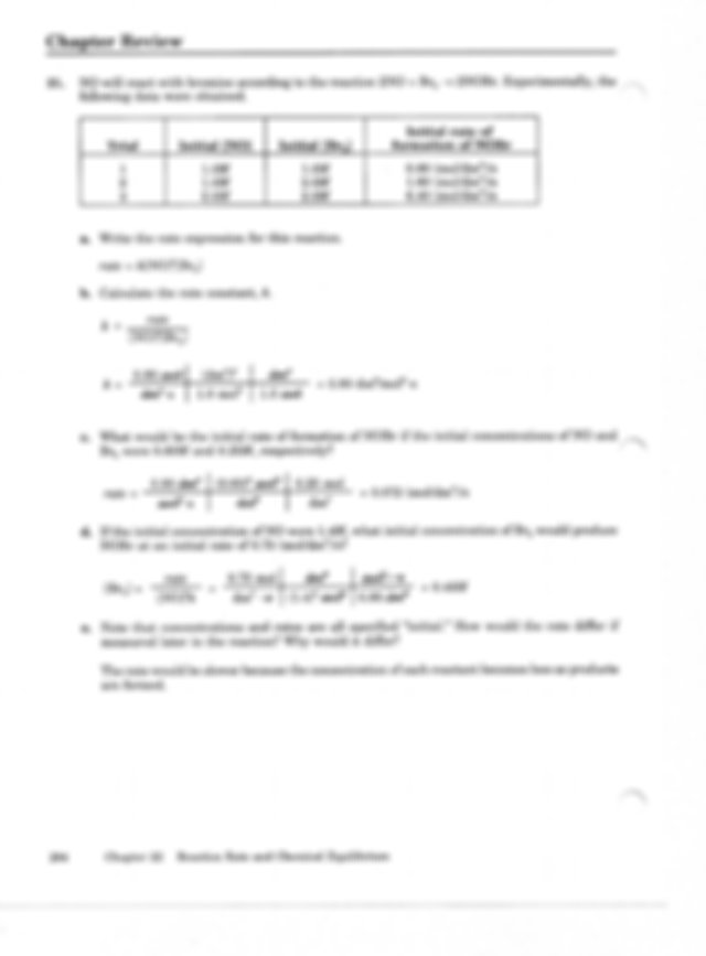 Chapter 22 Review Answers - CHAPTER REACTION RATE AND{A ...