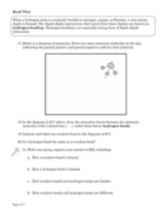 Model 2 What are the three types of intermolecular forces ...