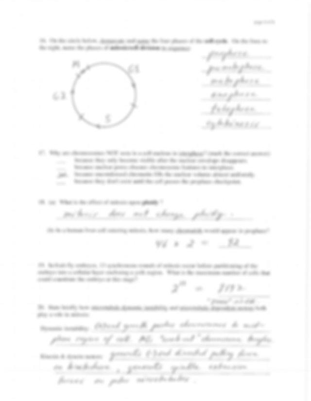 Modern Biology Test 3 Answer Key - page I of 6 Modern ...