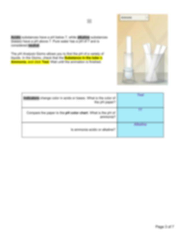 pH Analysis Gizmo.pdf - Name Period Student Exploration pH ...