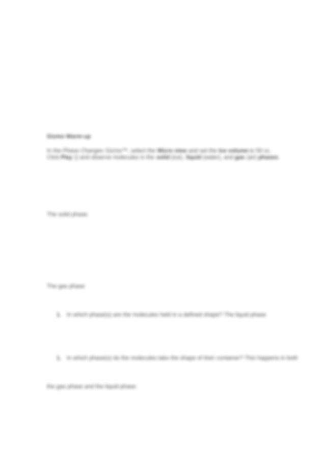 Student Exploration- Phase Changes (ANSWER KEY).docx ...