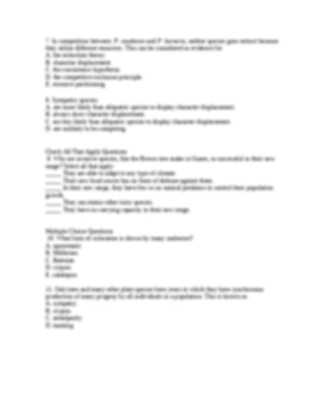 QuizChap057.rtf - Quiz Chapter 57 Species Interactions ...