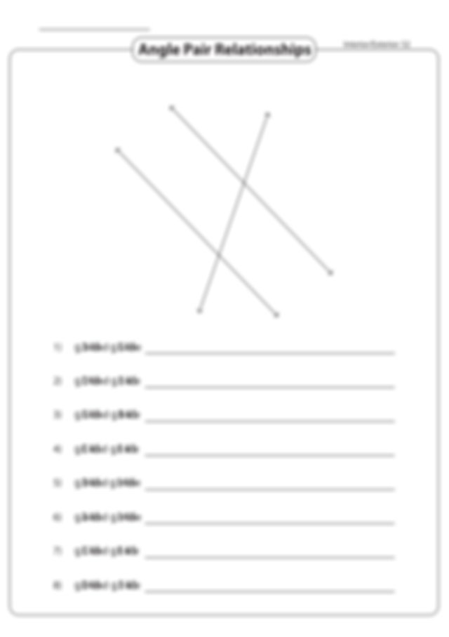 Angle Pair Relationships Int and ext.pdf - Name Angle Pair ...