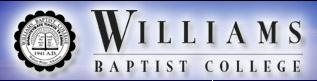 Williams Baptist College logo