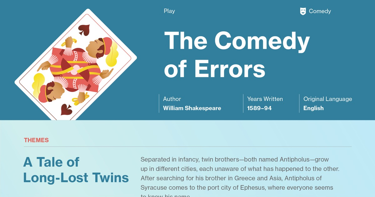 The Comedy Of Errors Symbols Course Hero