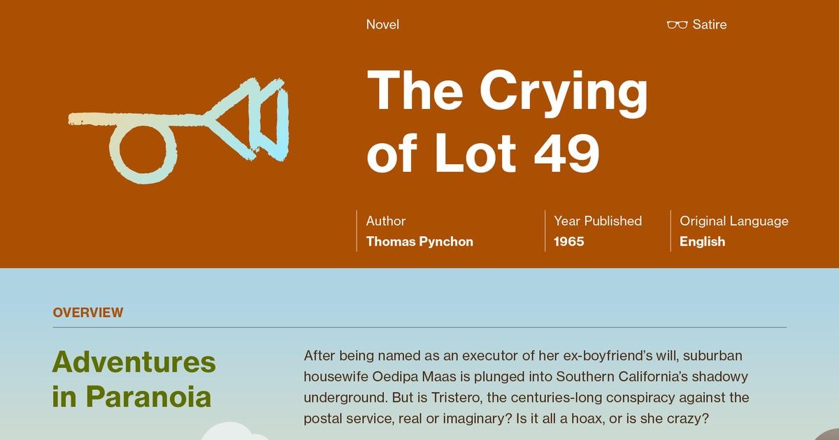The Crying Of Lot 49 Plot Summary