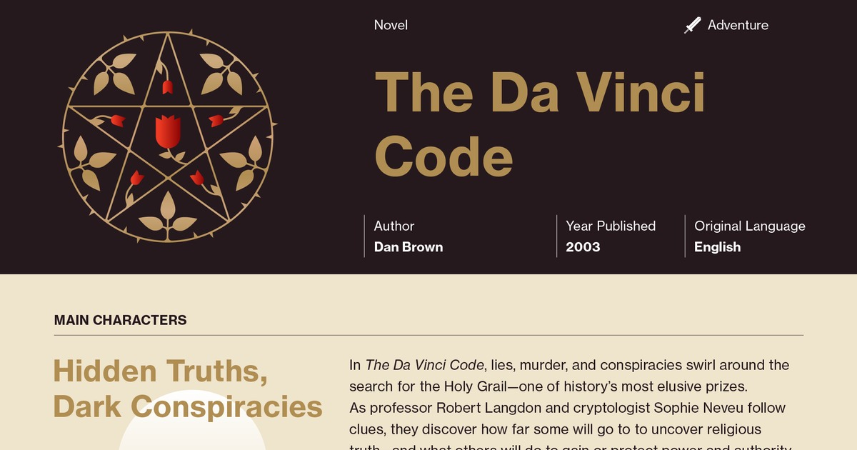 The Da Vinci Code Chapters 5 14 Summary - Course Hero