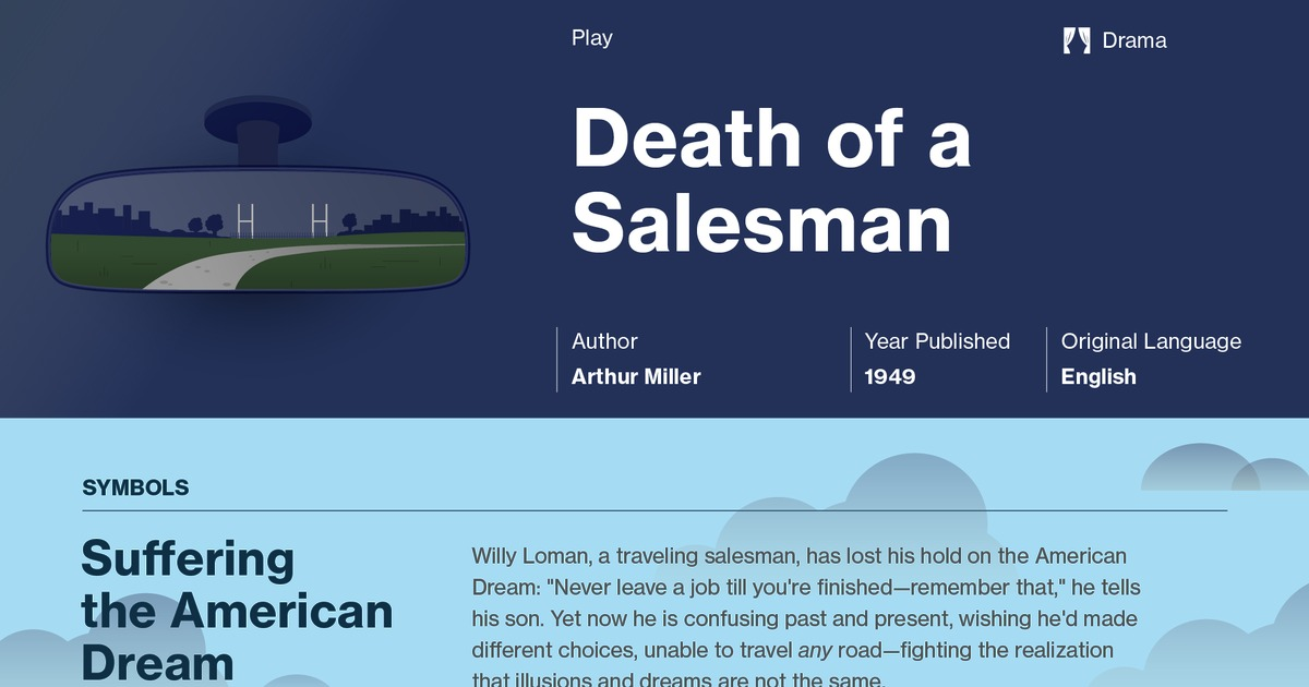 an analysis of tone in death of a salesman by arthur miller Arthur miller's death of a salesman dreamlike melding of past and present in arthur miller's death of a salesman, willy arthur miller has written.