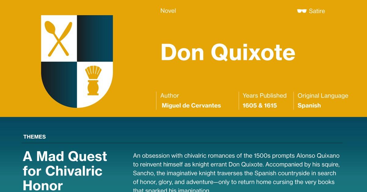 don quixote themes course hero