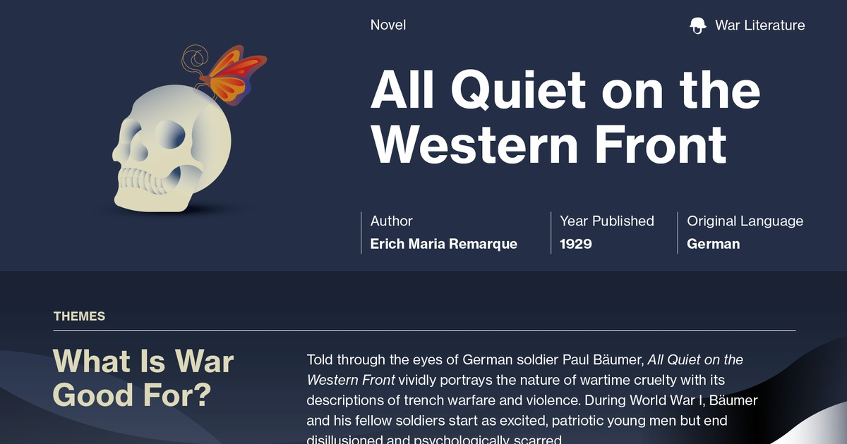 paul baumer all quiet on the western front