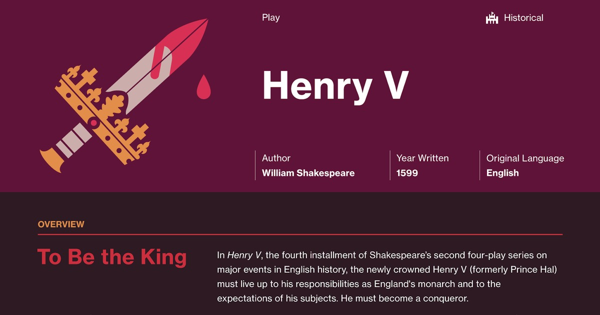 Henry V Study Guide Course Hero