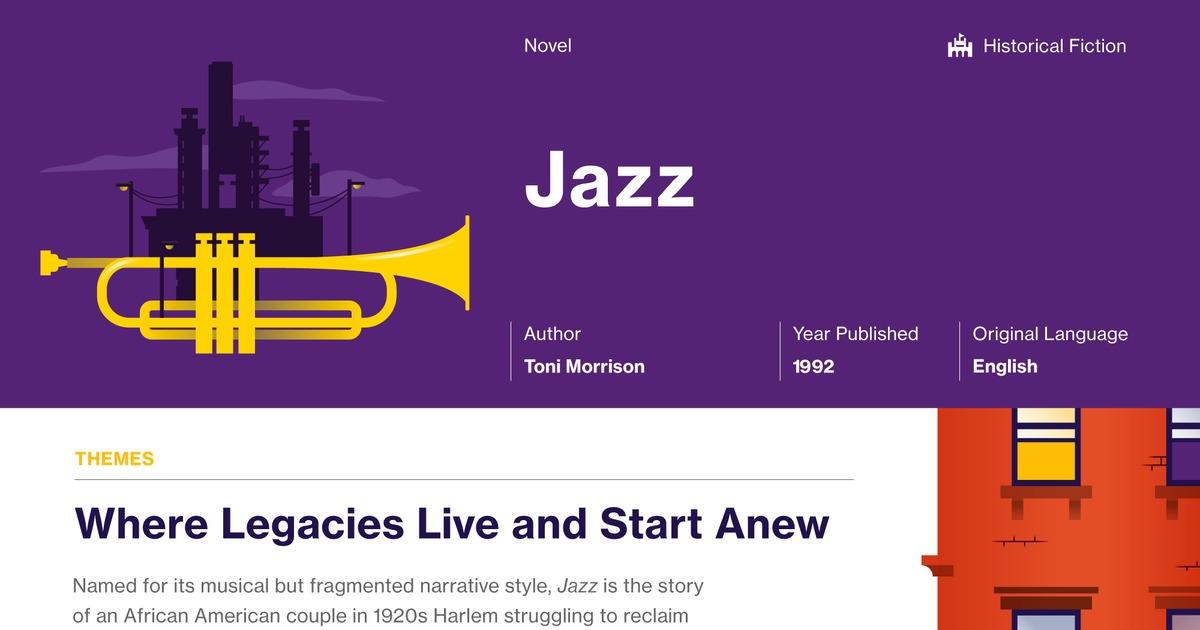 jazz novel by toni morrison