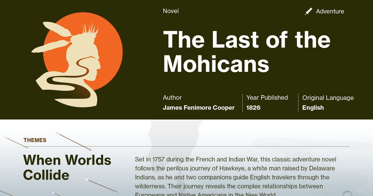 The Last Of The Mohicans Symbols Course Hero