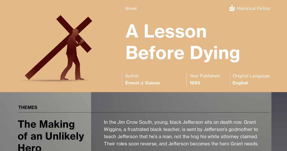 literary devices lesson before dying