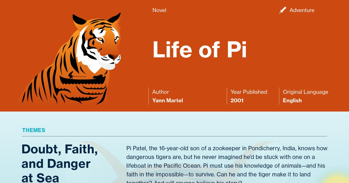 life of pi essays on symbols Pi (piscine) patel pi has a symbolic relationship with the mathematical term the  ratio of the circumference (circular) of a circle to its diameter (linear) is pi.