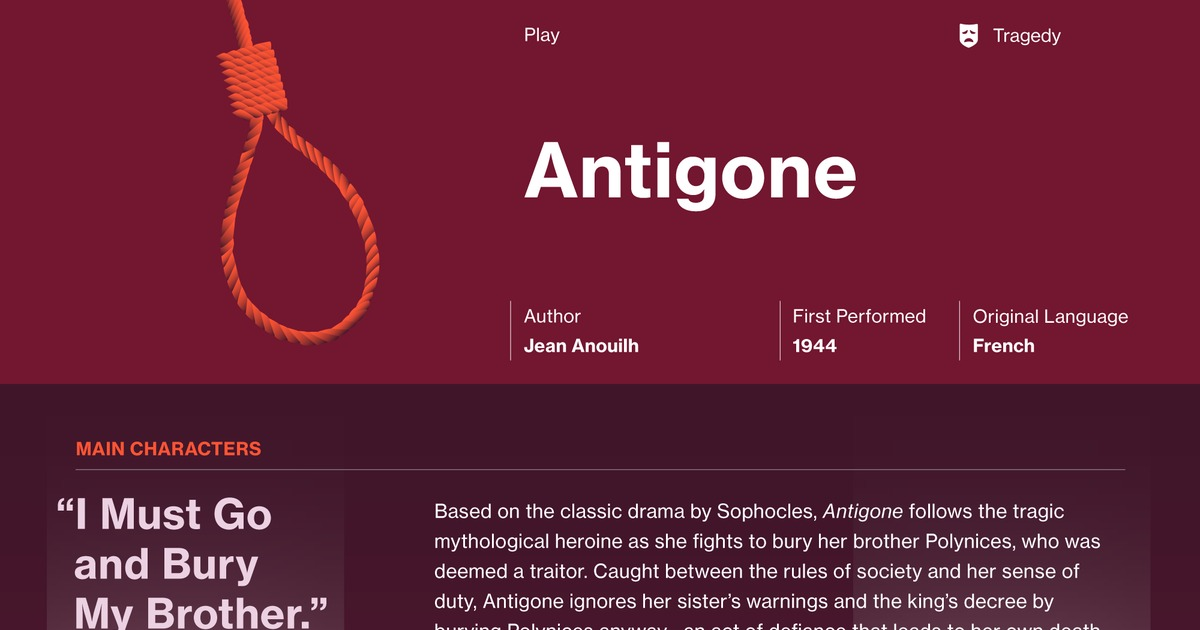Antigone Symbols Course Hero