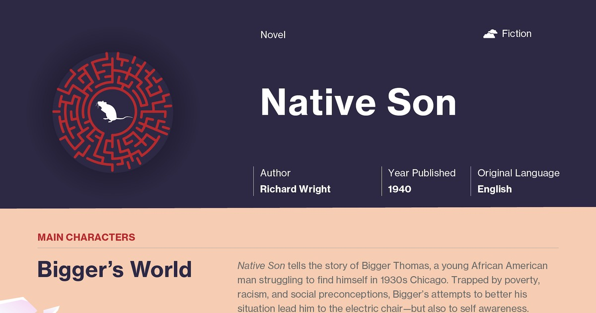 an analysis of the novel native son by richard wright Read this literature book/movie report and over 88,000 other research documents richard wright's novel native son richard wright's novel, native son, consisted of various main and supporting character to deliver an effective array of personalities.
