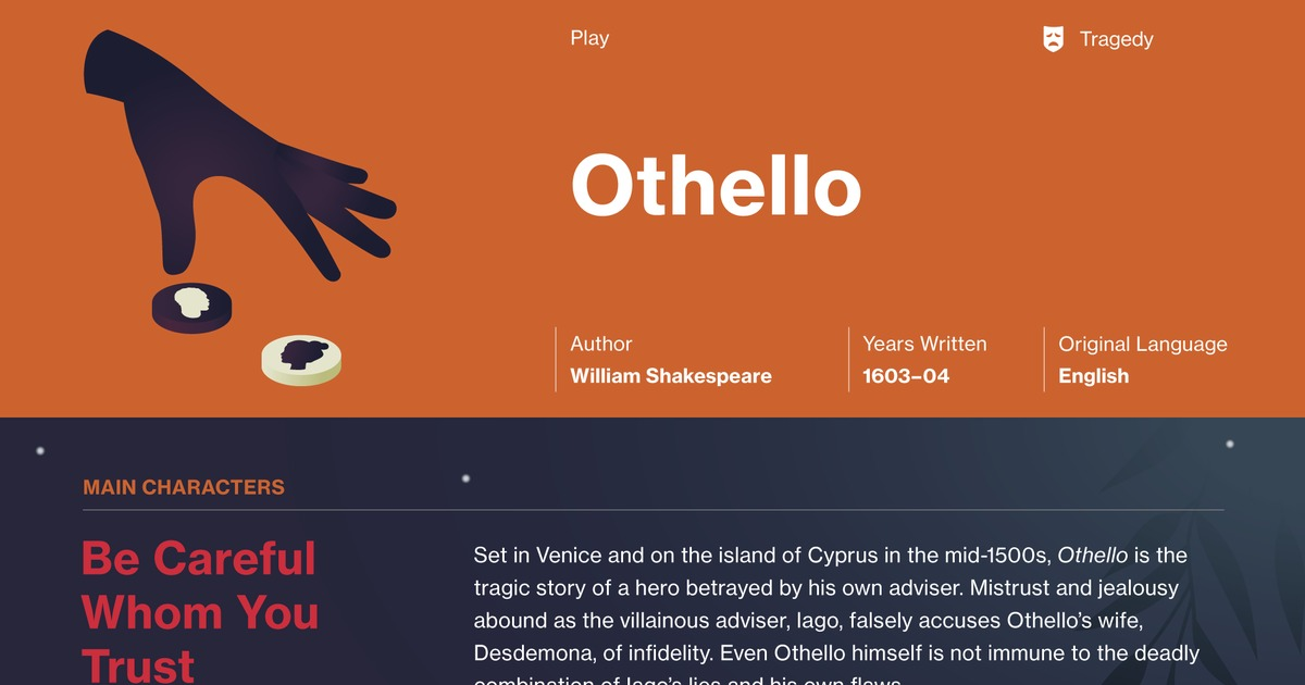 the use of symbolism characterization and irony in shakespeares othello Read closely and analyze iago's rhetoric in specific monologues and dialogues with other characters so important in shakespeare's othello irony of iago's.