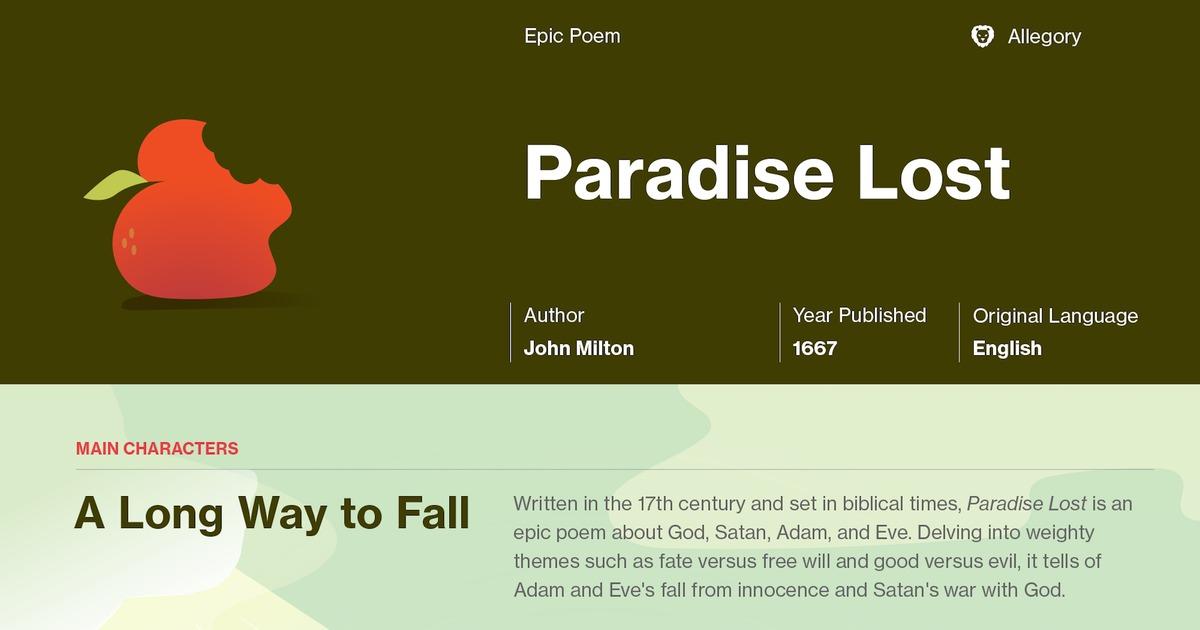 Paradise Lost Book 9 Summary Course Hero