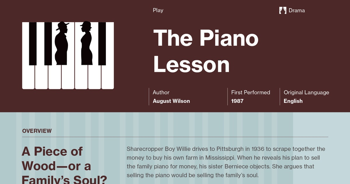 essay on the piano lesson by august wilson