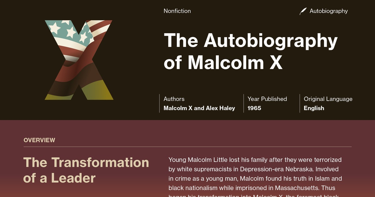 the autobiography of malcolm x documents course hero
