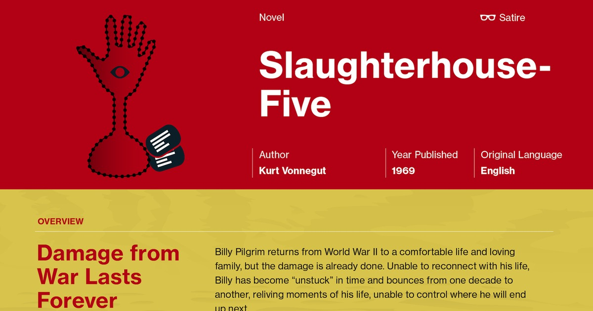 an overview of the slaughterhouse five in 1969 by vonnegut March 31, 1969 books of the times at last kurt vonnegut knows all the tricks of the writing game one reads slaughterhouse-five with that question crouched on the brink of one's awareness i'm not sure.