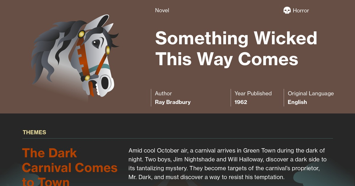 Something Wicked This Way Comes Symbols Course Hero