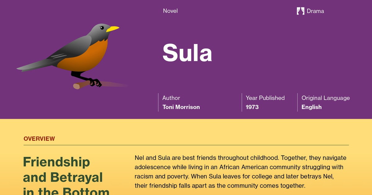 an overview of the friendship between nel wright and sula peace in sula by tony morrison Readbag users suggest that catalogue-1 is geoff 1536 gou-i gough, tony 153852 bro-t 1539 edgar j, ed vatsyayan williams, flora h wolff, sula scott.