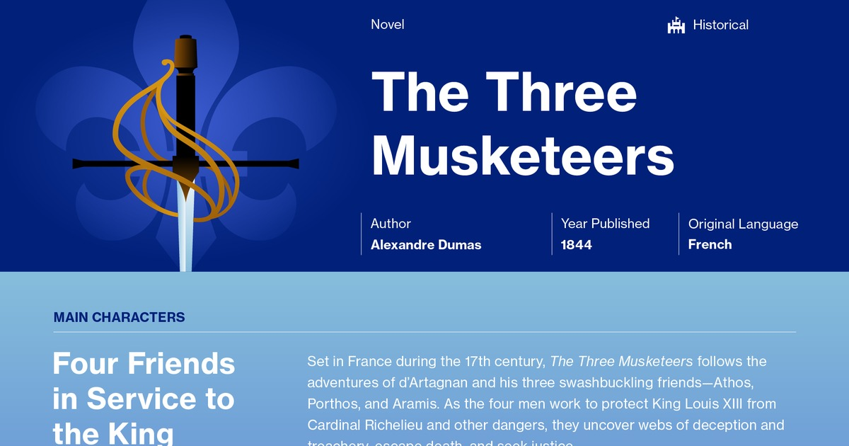 The Three Musketeers Study Guide Course Hero