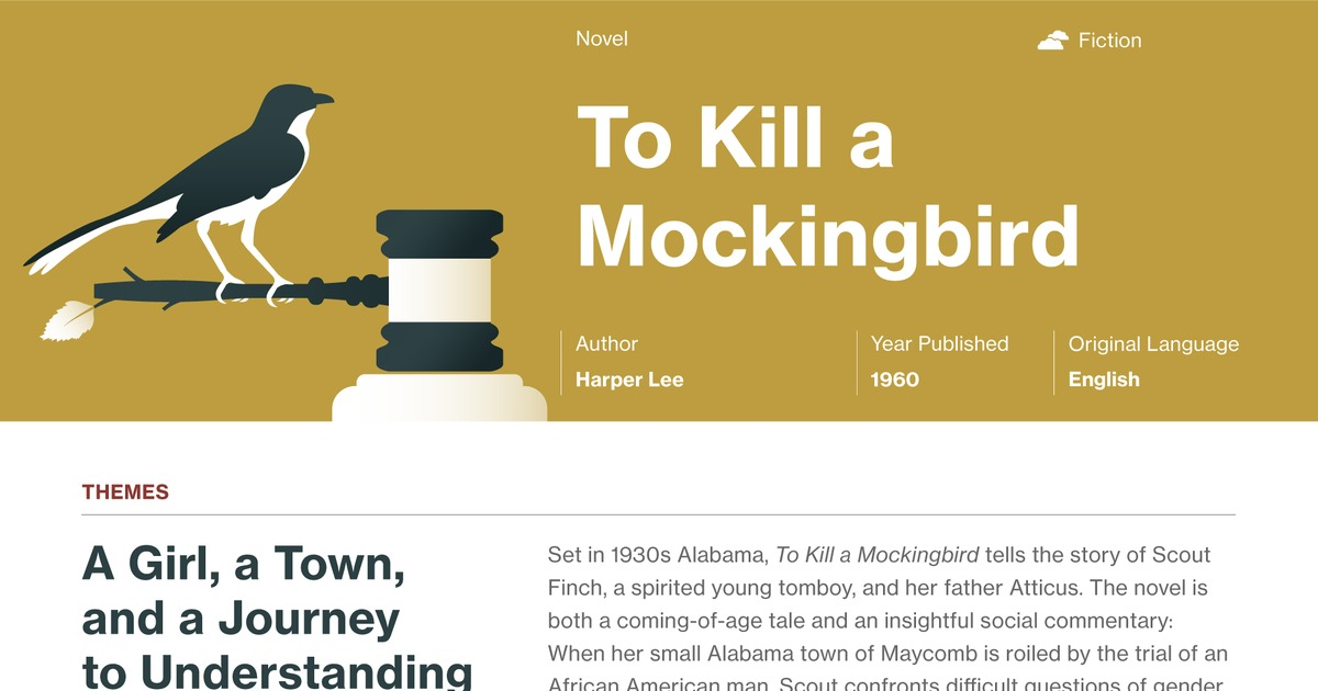 to kill a mockingbird commentary To kill a mockingbird chapter summary in under five minutes harper lee's classic novel of modern american literature is one of the most taught books about h.