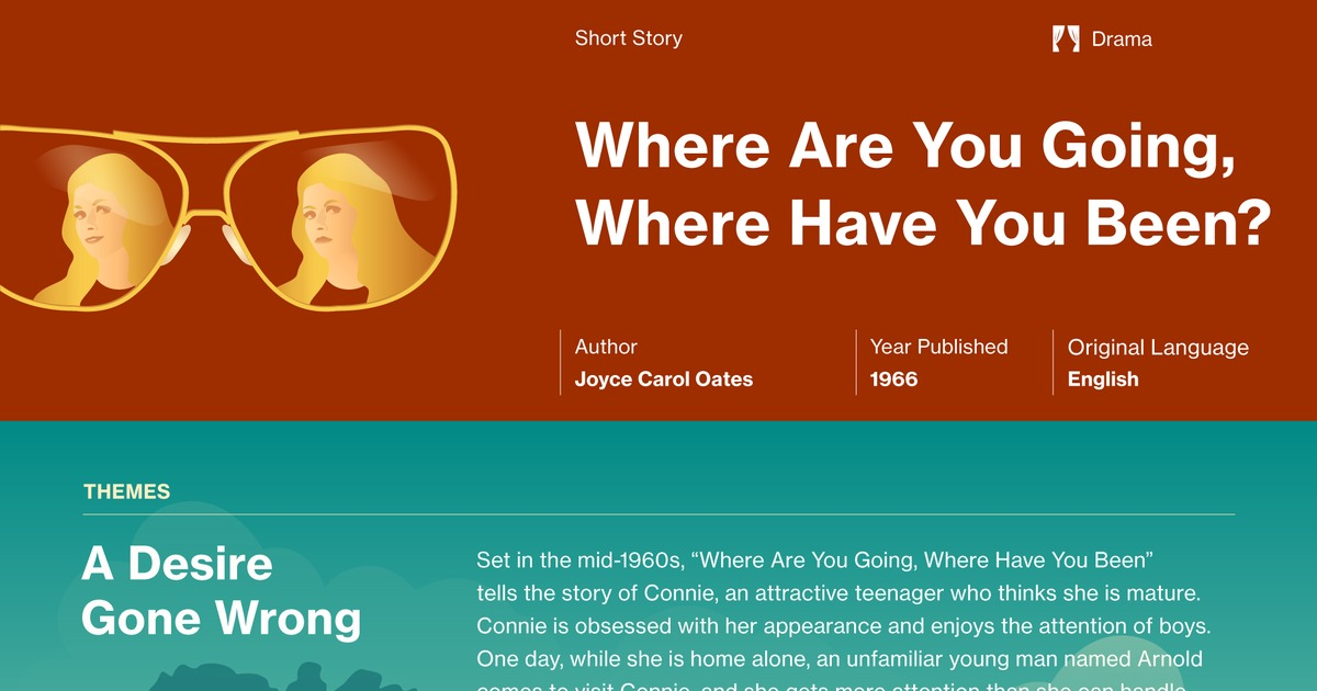 essay about where are you going where have you been Immediately download the where are you going, where have you been summary, chapter-by-chapter analysis, book notes, essays, quotes, character descriptions, lesson.