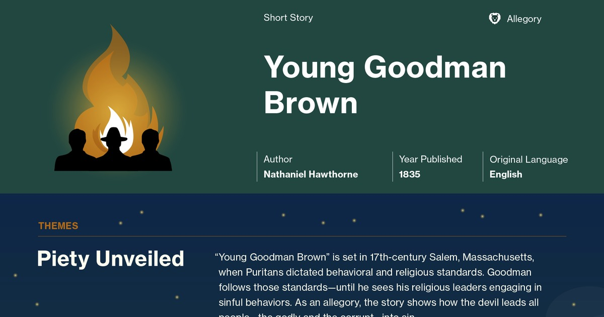 the theme of young goodman brown Get everything you need to know about losing faith and innocence in young goodman brown analysis, related quotes, theme tracking.