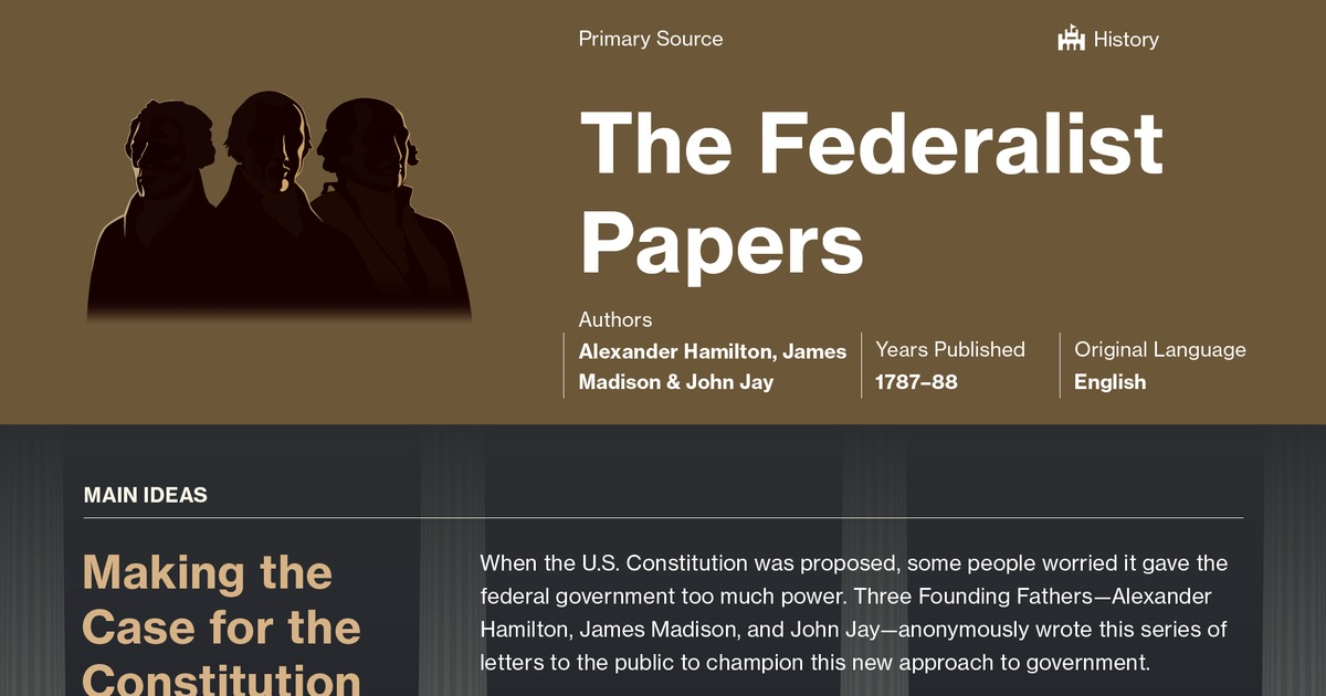 The Federalist Papers Study Guide Course Hero