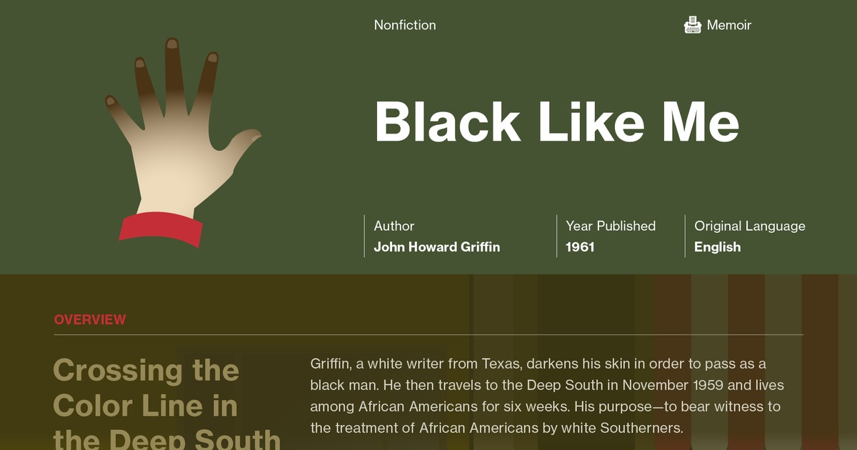 Black Like Me: Summary   Novelguide