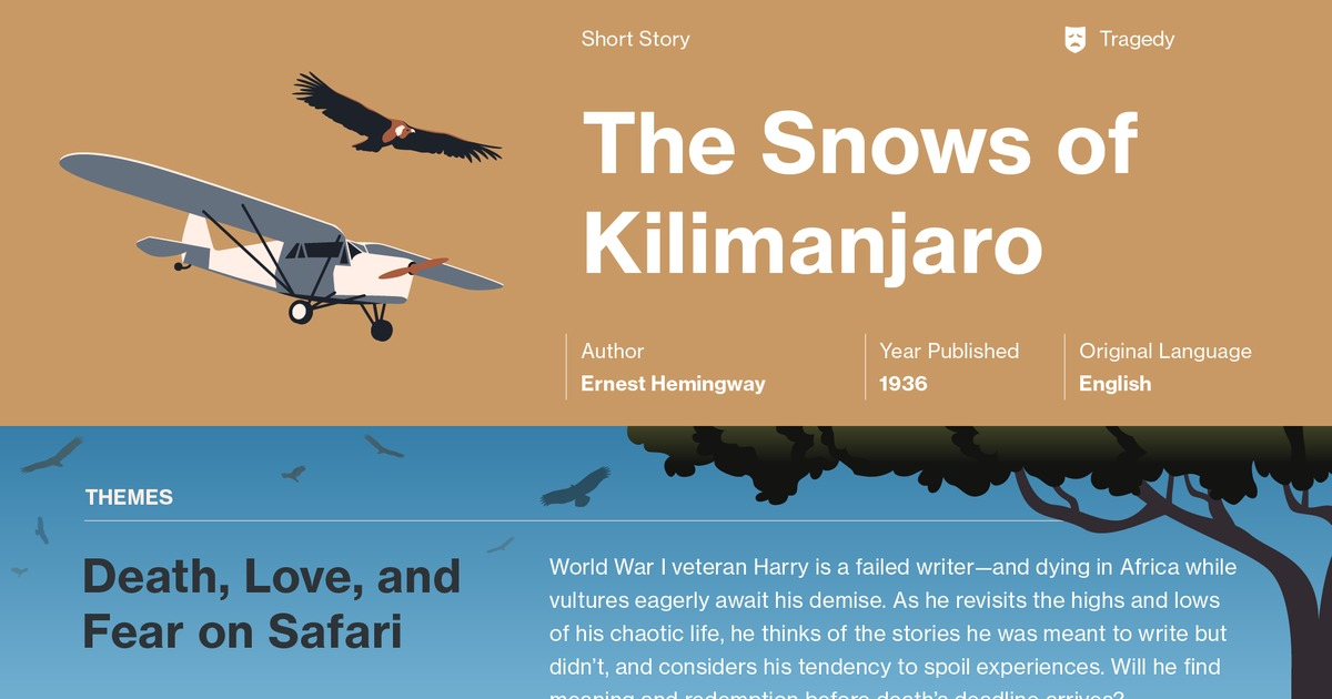 the snows of kilimanjaro character analysis