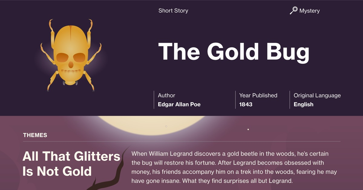 The gold bug edgar allan poe summary