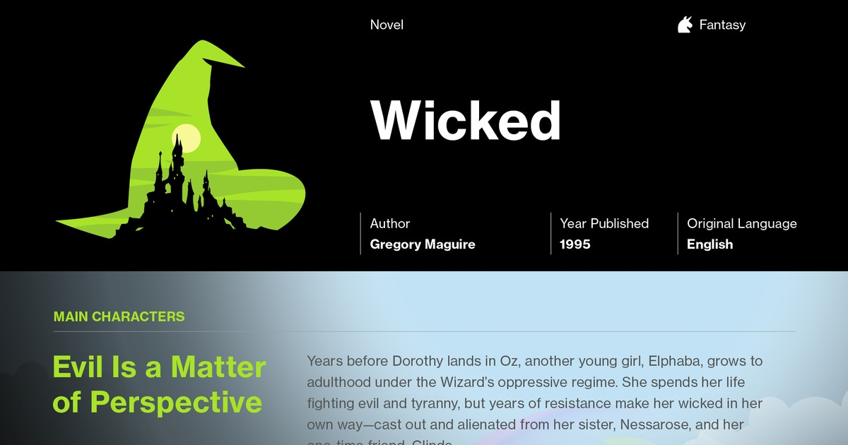 wicked book analysis