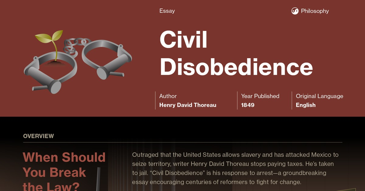 Civil Disobedience Quotes Course Hero