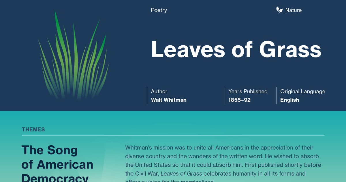 whitman poems about nature
