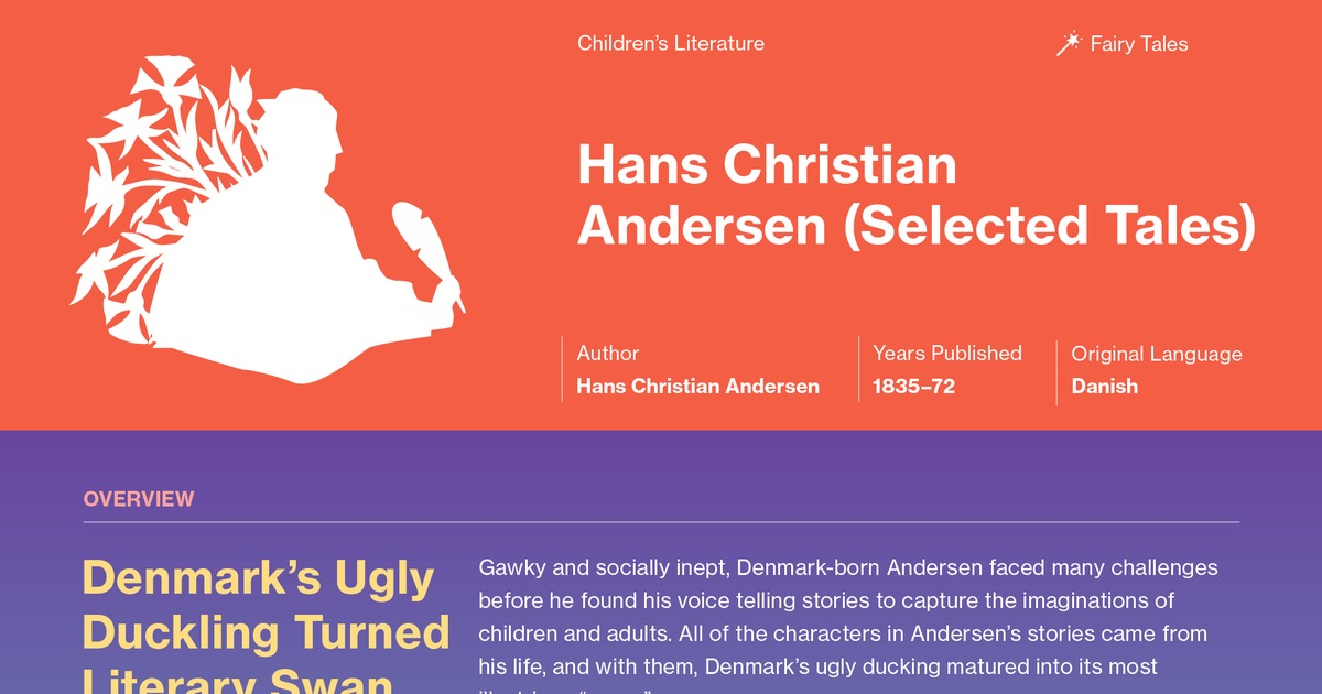 Fairy Tales Of Hans Christian Andersen Selected The Traveling
