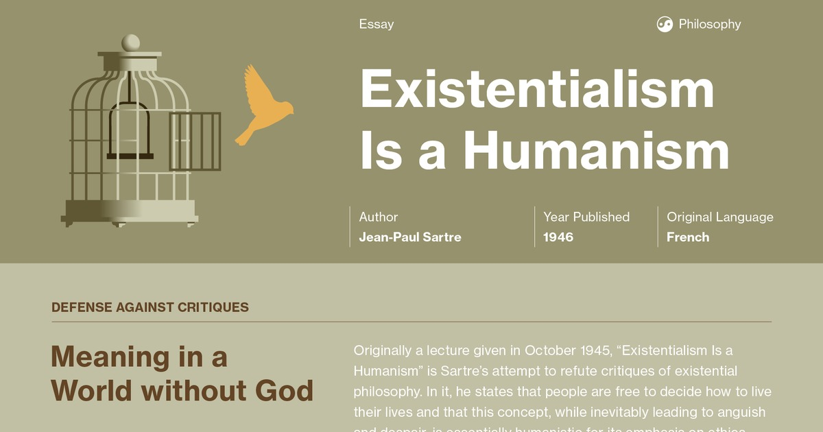 Existentialism Is A Humanism Study Guide