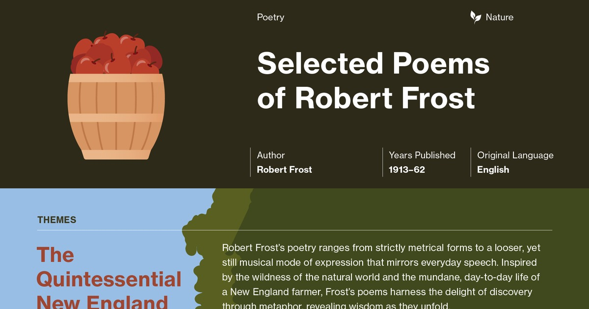 The Poems Of Robert Frost After Apple Picking Summary Course Hero