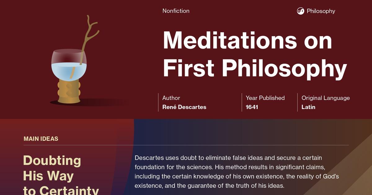 descartes first meditation three skeptical arguments