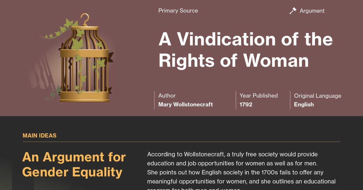 A Vindication Of The Rights Of Woman Quotes