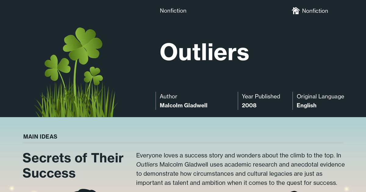 Outliers The Story Of Success Plot Summary Course Hero